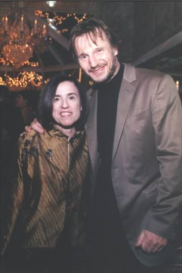 Harriet with Liam Neeson, opening night for  The Crucible Cast