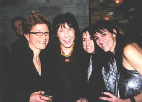 Opening night of  Beebo Brinker Chronicles  (from left to right- Lisa Kron, Lily Tomlin, Harriet Leve, and Leigh Silverman)