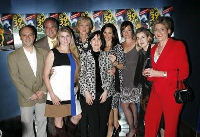 Opening night for the  39 Steps  on Broadway (from left to right Roy Gabay, Stewart Lane, Bonnie Comely, Maria Aitken, Harriet Leve, Barbara Manocherian, Marek J. Cantor, Jennifer Manocherian, and Pamela Laudenslager)