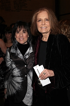 Harriet Leve & Gloria Steinem attending the Opening Night Performance of  ANN