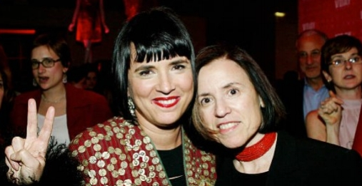 Eve Ensler and Harriet Leve at the Barneys New York and V-Day Alliance In The Fight to End Violence Against Women event.