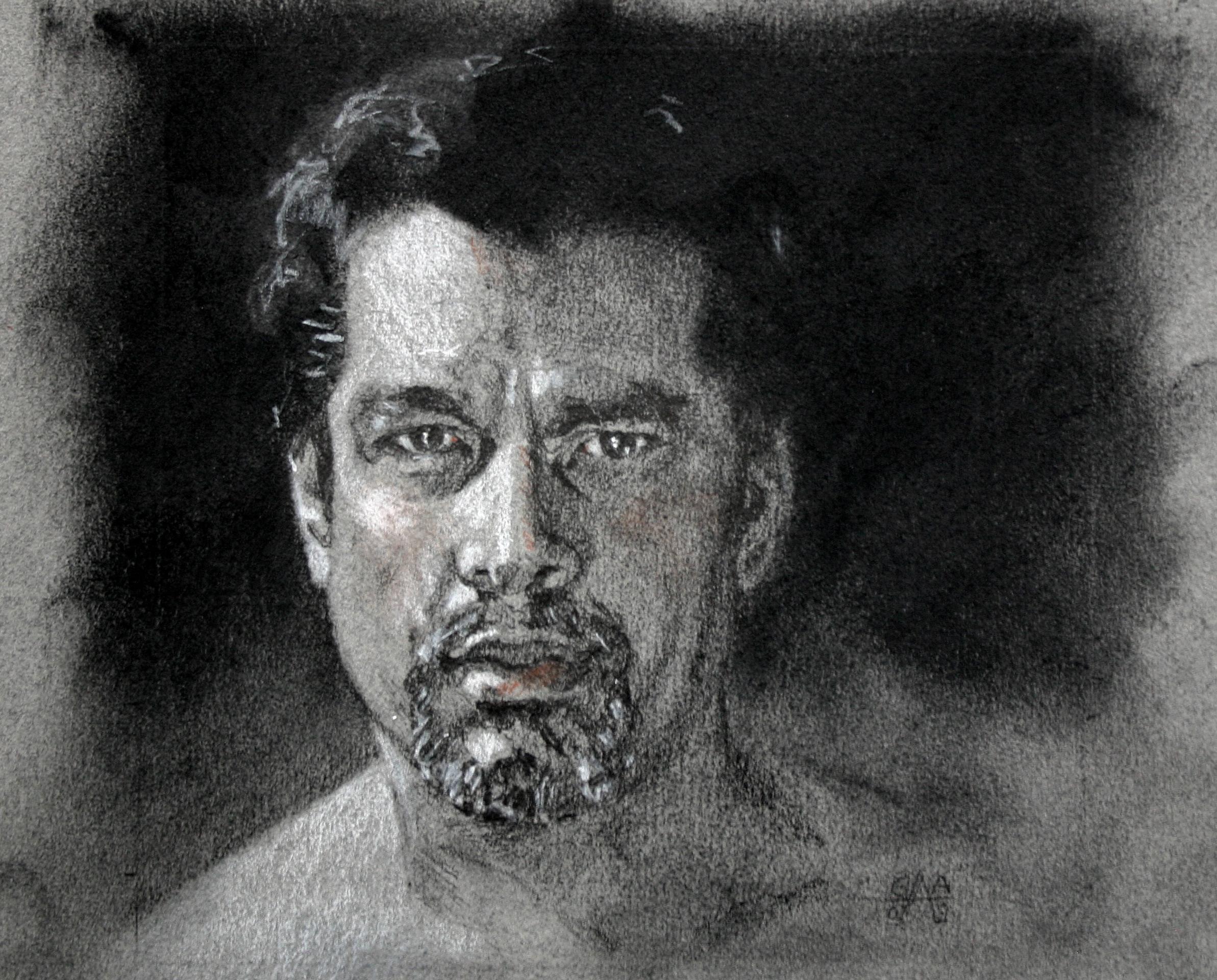 Bruno Graphite on Paper 8x6  SOLD
