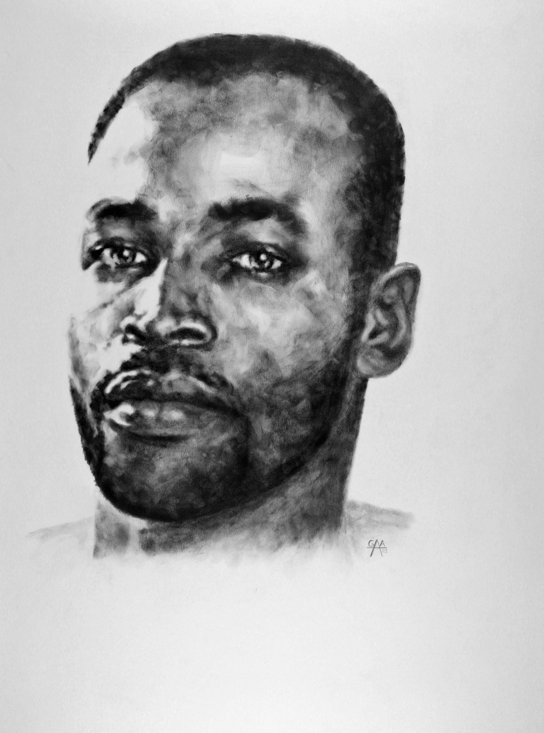 Miles Graphite on Paper 18x24  SOLD