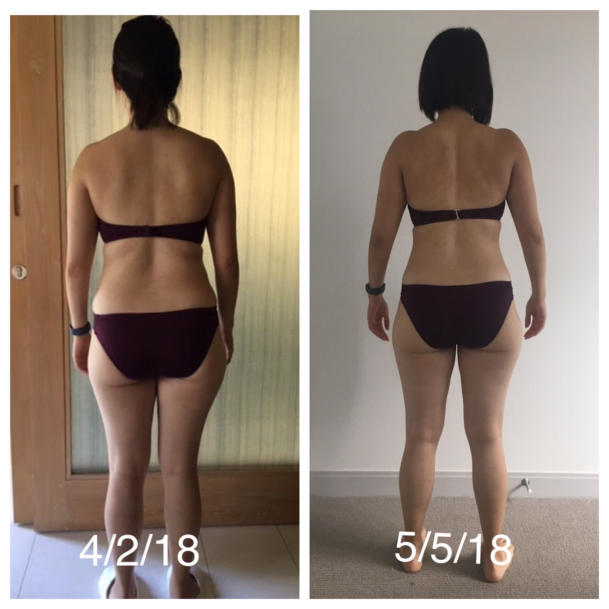 Training/Food - Weight-trained 3-5 times a week. Logged all foods on My Fitness Pal. Sarah really got into cooking and learned that eating veggies in the morning was a great way to get fiber in without supplements and a great start to the day! Her body composition changed without changing the scale!