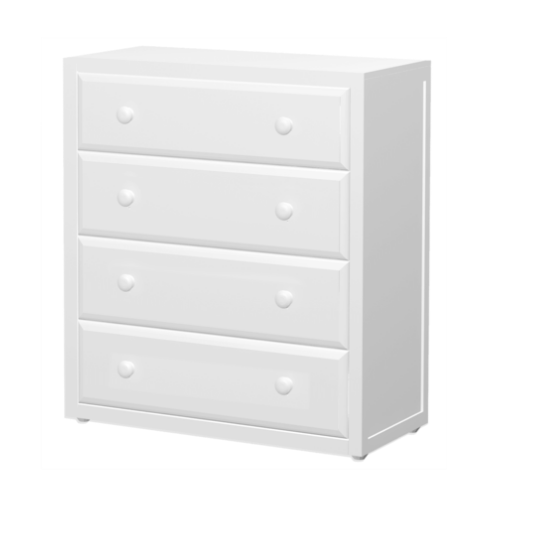 4 Drawer Dresser in White