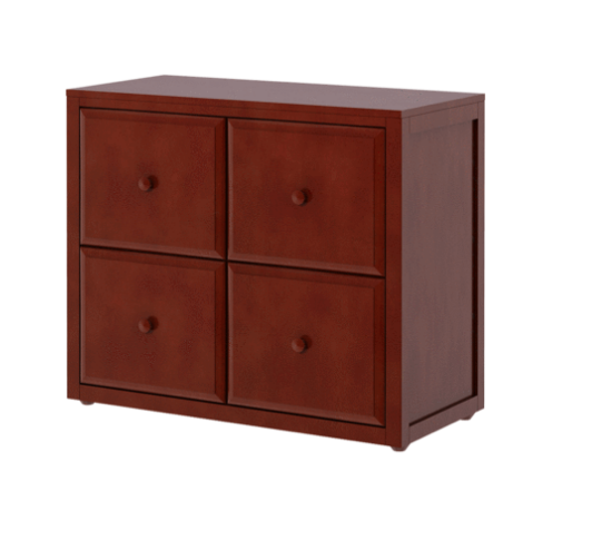 4 Drawer Cube Dresser in Chestnut