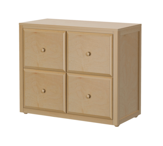 4 Drawer Cube Dresser in Natural