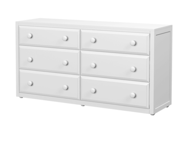 6 Draw Dresser in White