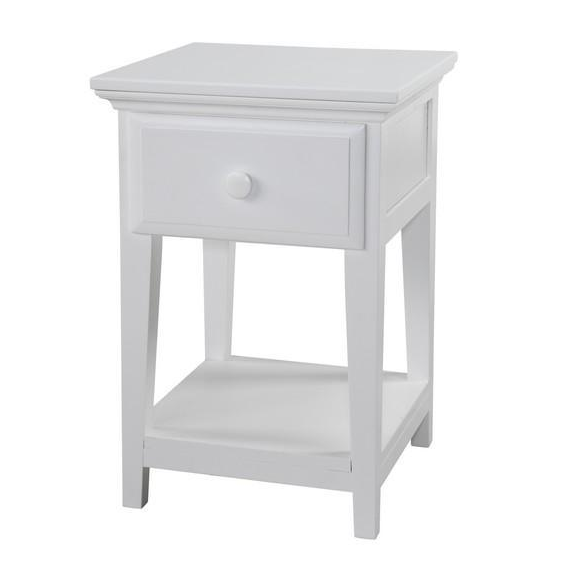 1 Drawer Night Stand with Shelf in White