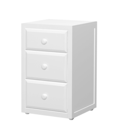 3 Drawer Nightstand in White