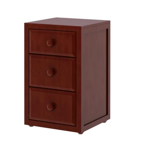 3 Drawer Nightstand in Chestnut
