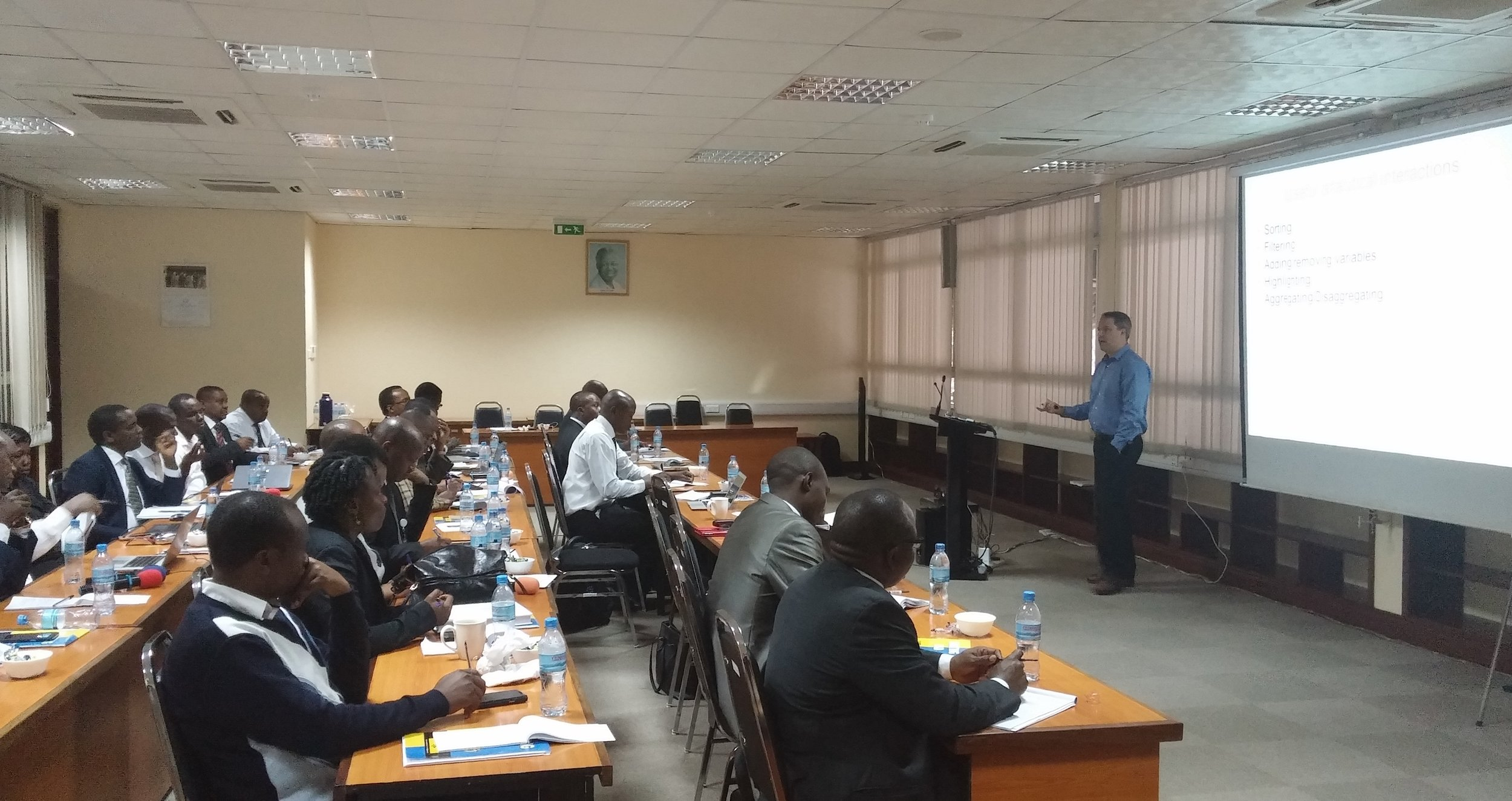 Private workshop at the Central Bank of Tanzania