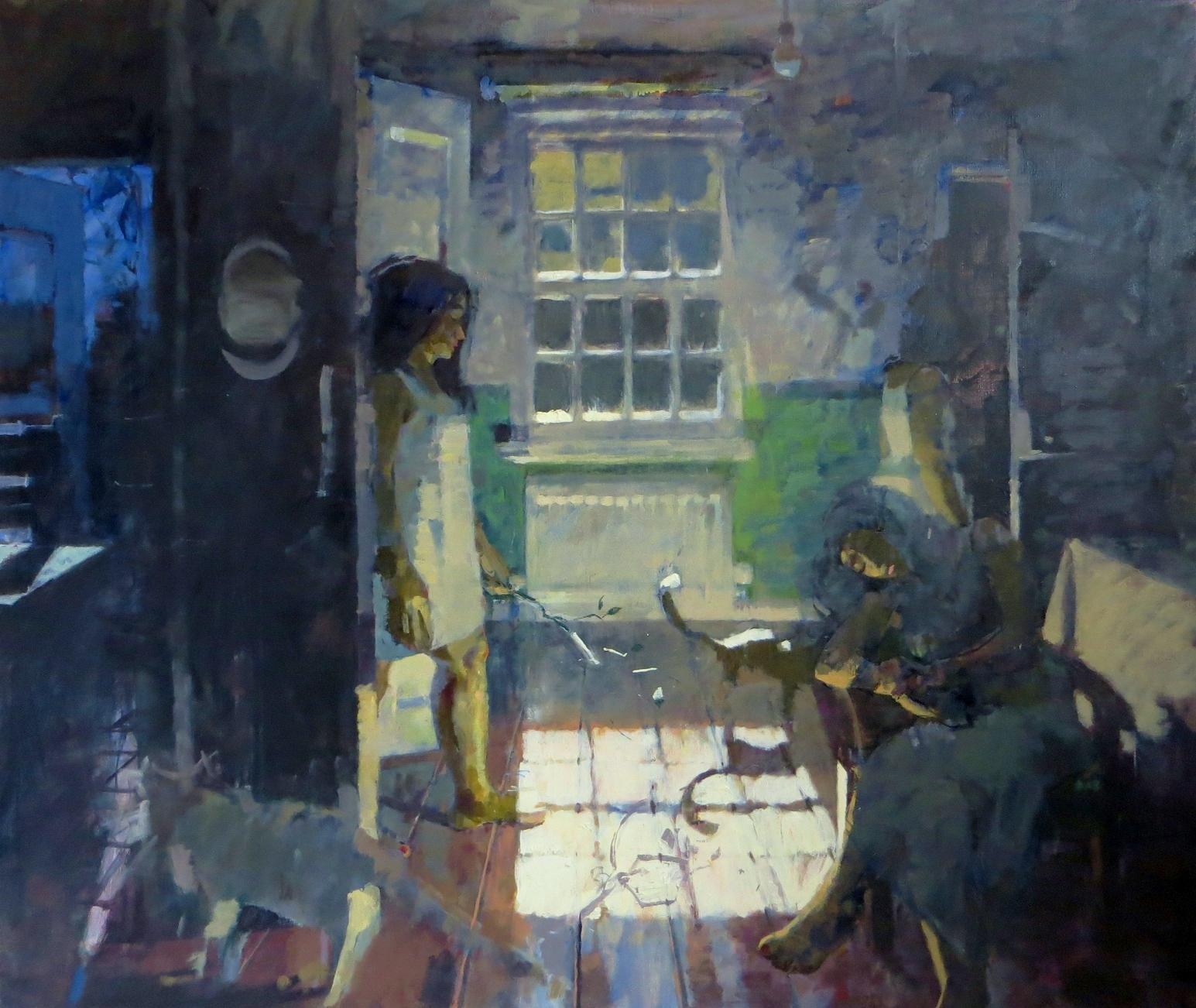 James Bland,  Full Moon , oil