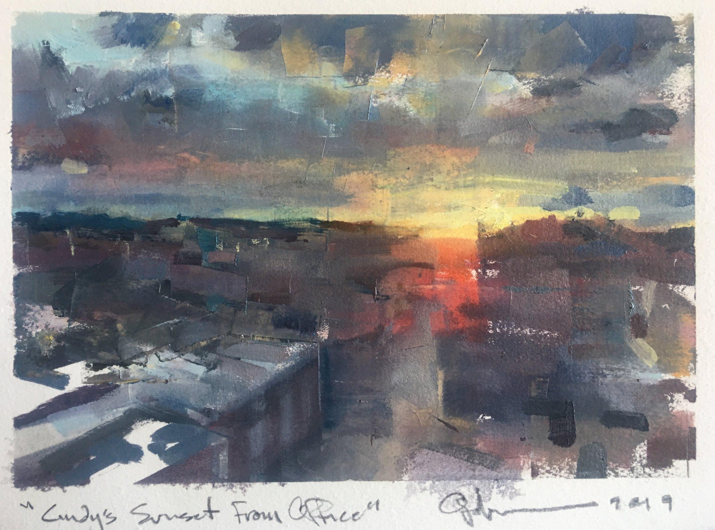 oil sketch for a recent landscape commission