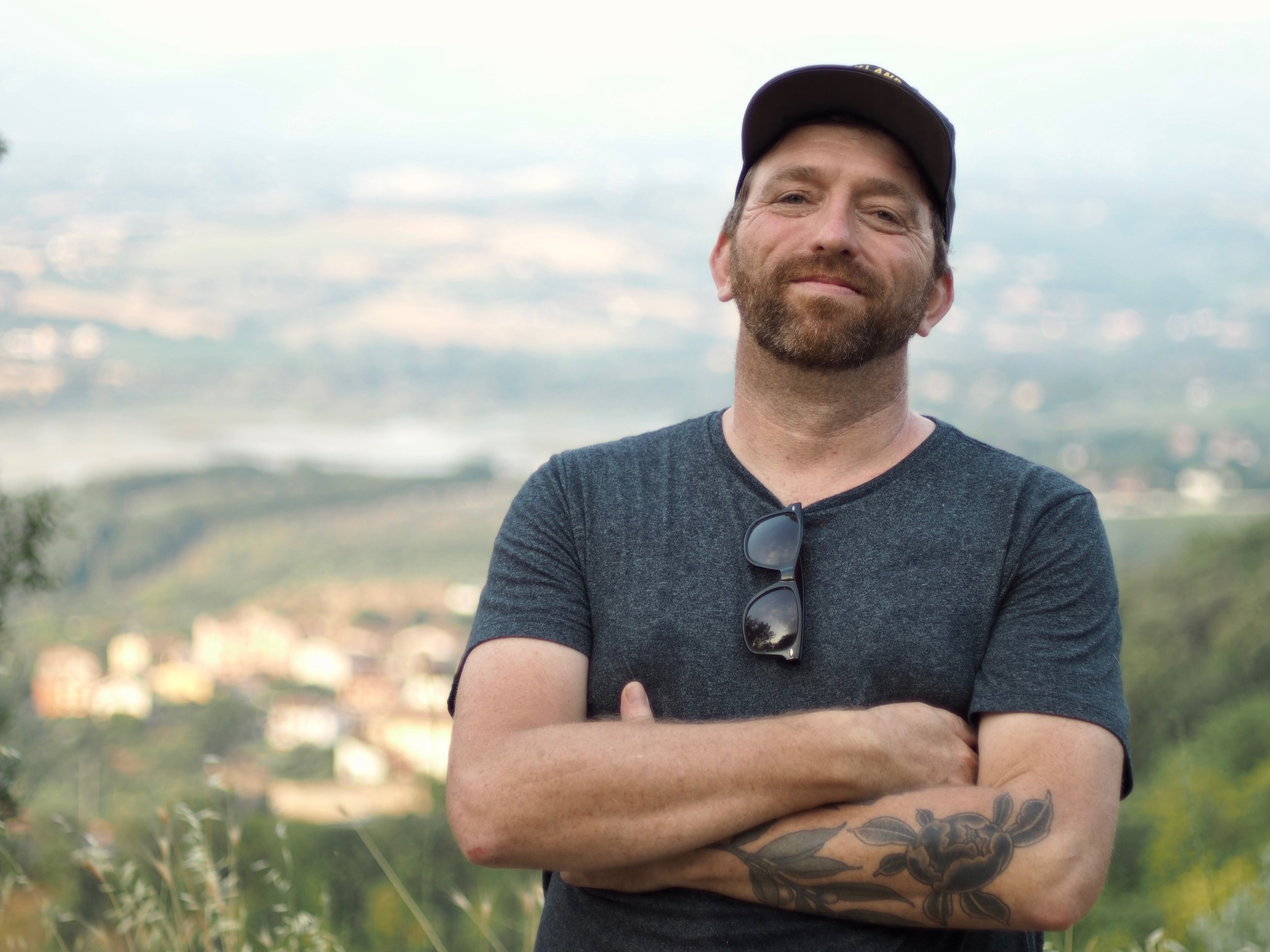 above Narni, scouting painting spots in Umbria, Italy, summer 2019, during my residency with JSS in Civita photo: Jesse Baldwin