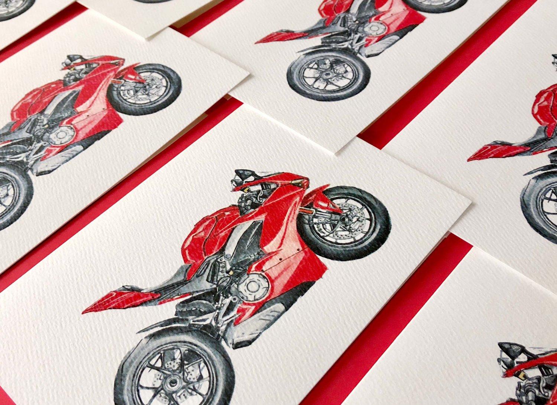 Ducati V4 cards for Ducati dealership in Newport Beach, CA