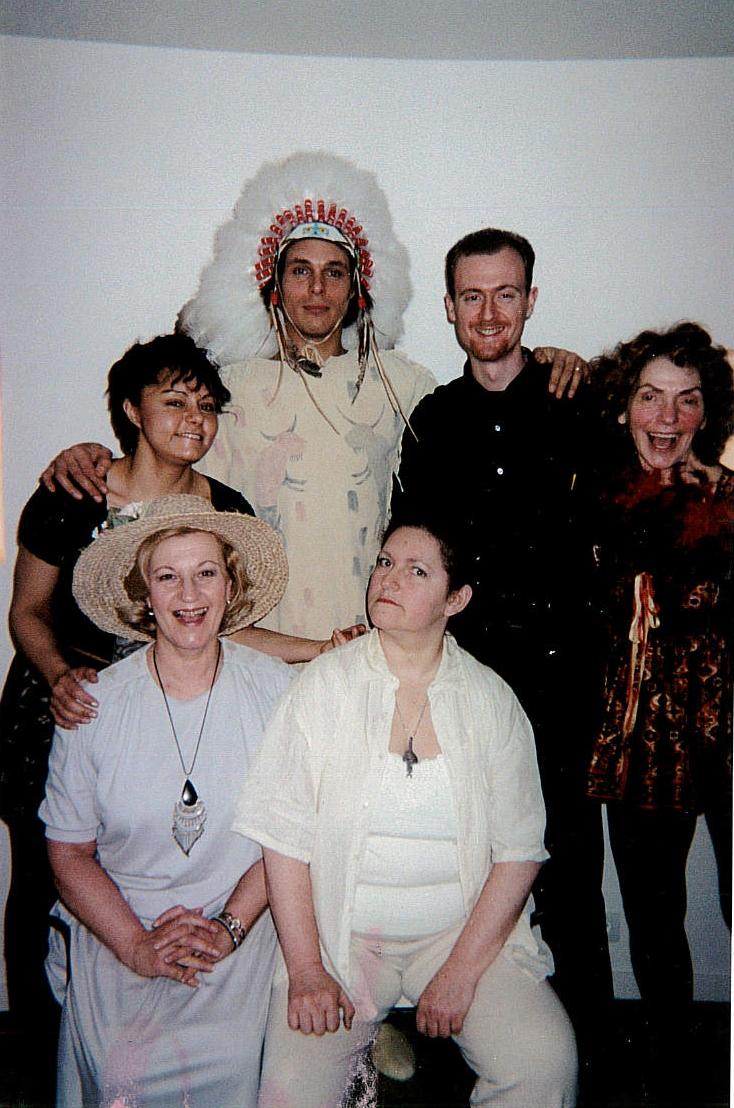 Café de Flore Paris  Public Play Readings Artistic Director Kim Michelle BRODERICK with cast members.jpg