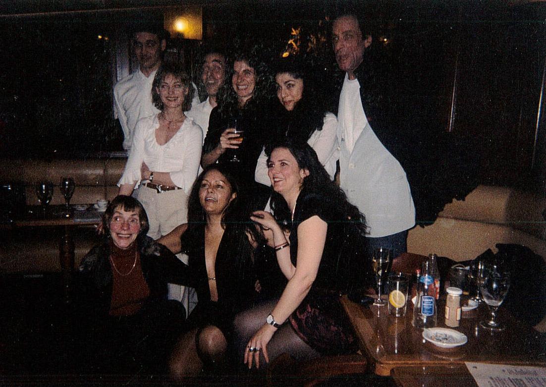 after the play-reading Café de Flore Paris  Public Play Readings Artistic Director Kim Michelle BRODERICK cast members.jpg