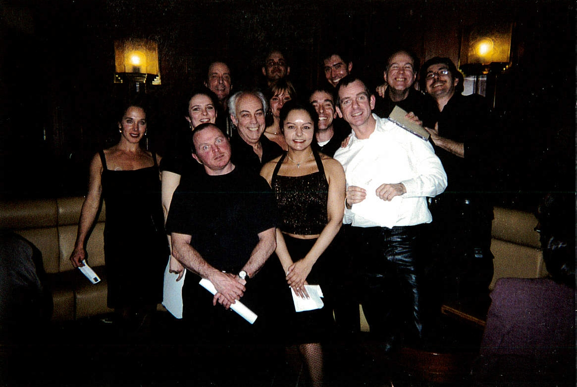 OWAP casts at Café de Flore Kim Michelle Artistic Director  www.oneworldactorsanimalrescues.org.jpg