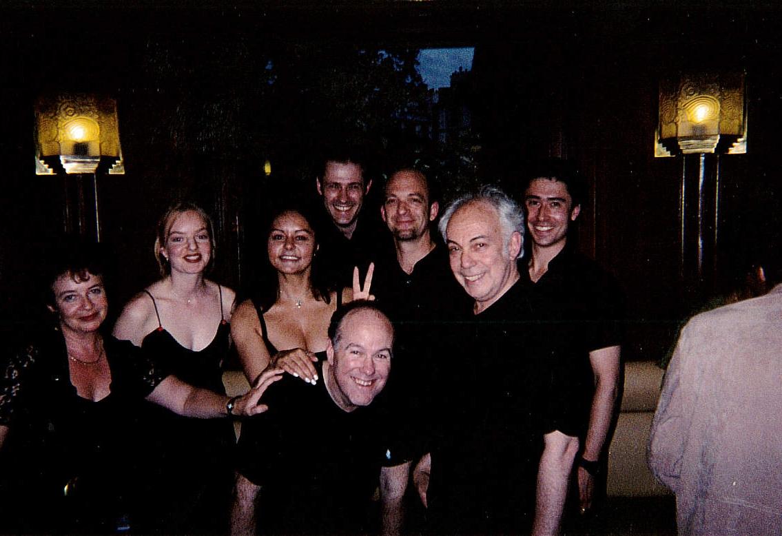OWAP casts at café de Flore Kim Michelle Artistic Director's crews  www.oneworldactorsanimalrescues.org.jpg