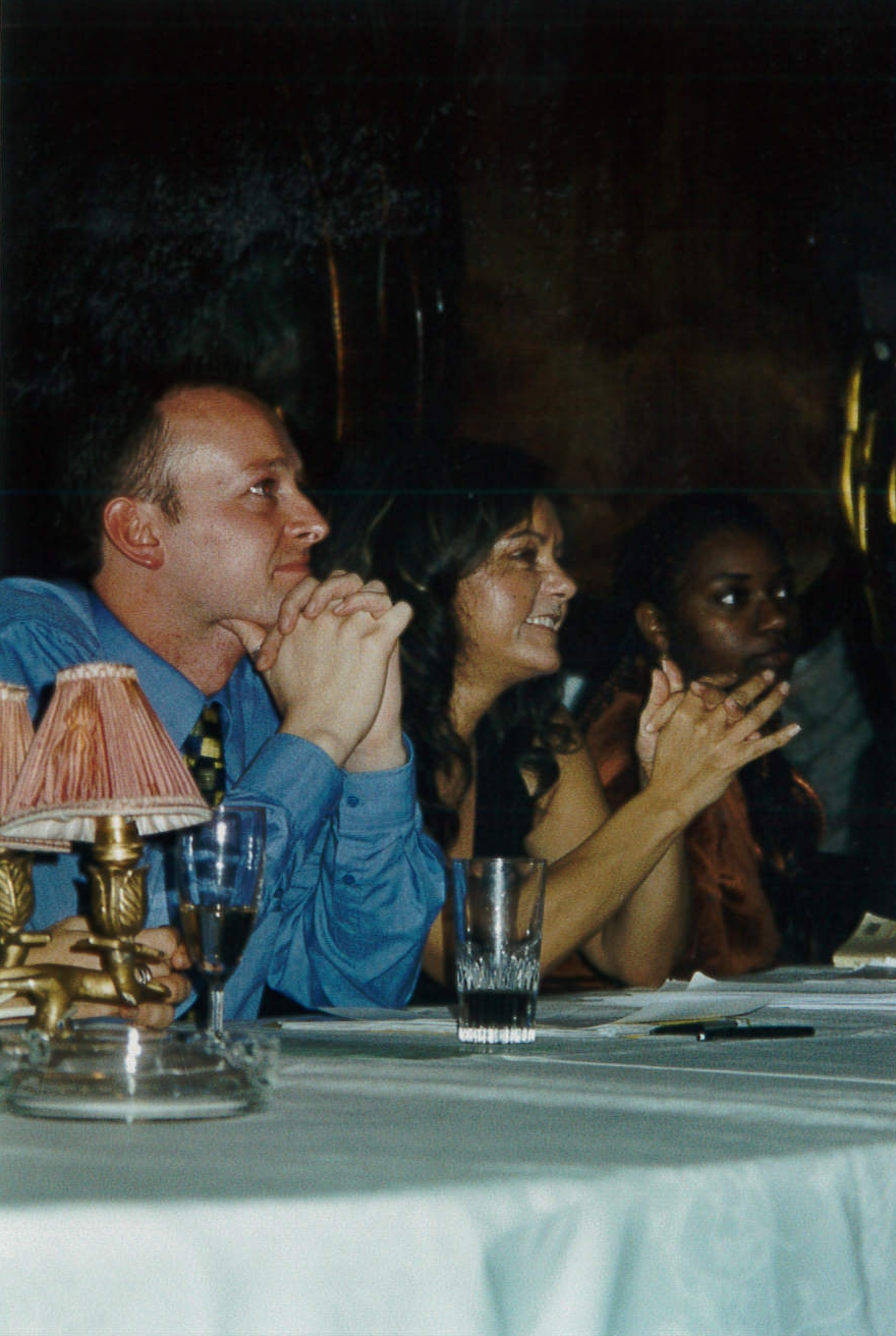 OWAP Press Conference at Regine's Paris France with Kim Michelle Broderick and her Manager Ben Walsmley.jpg