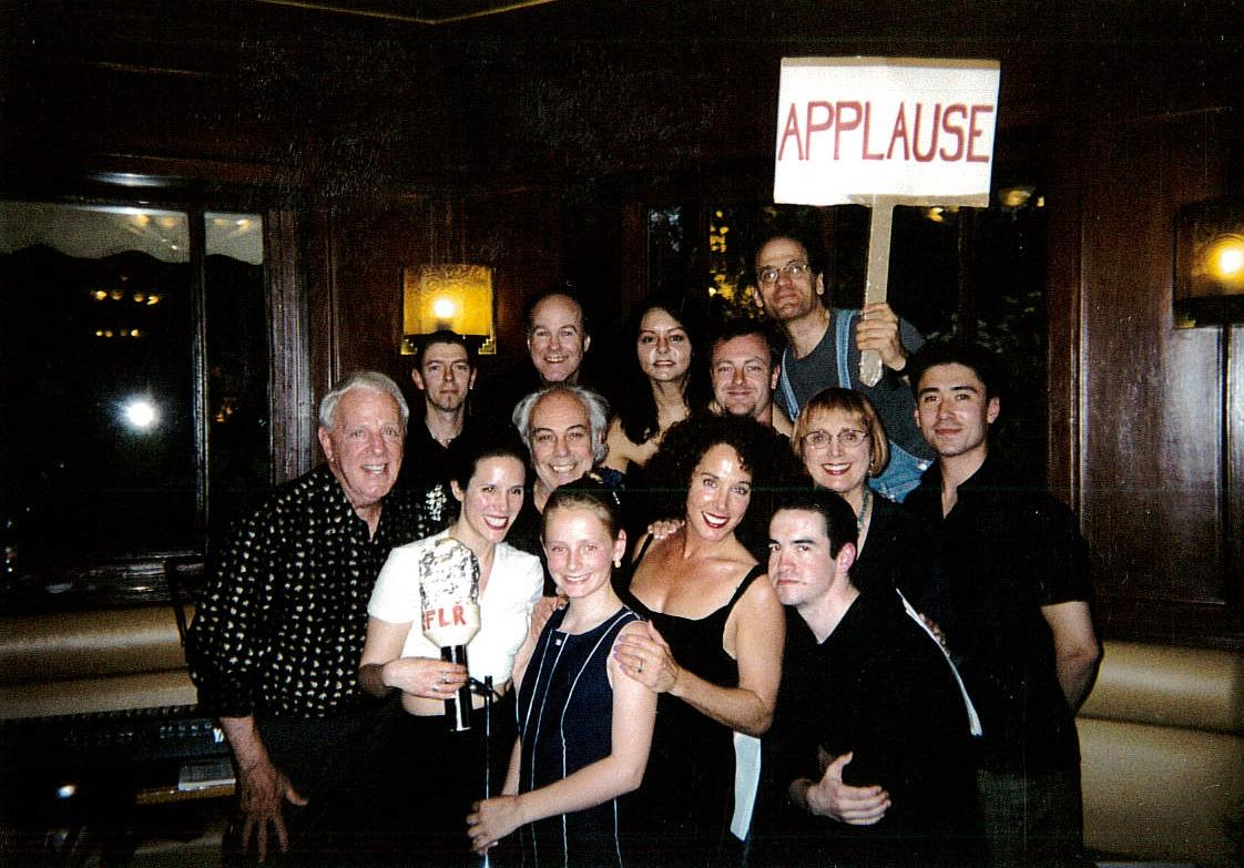 OWAP casts at café de Flore Kim Michelle's crews     www.oneworldactorsanimalrescues.org.jpg