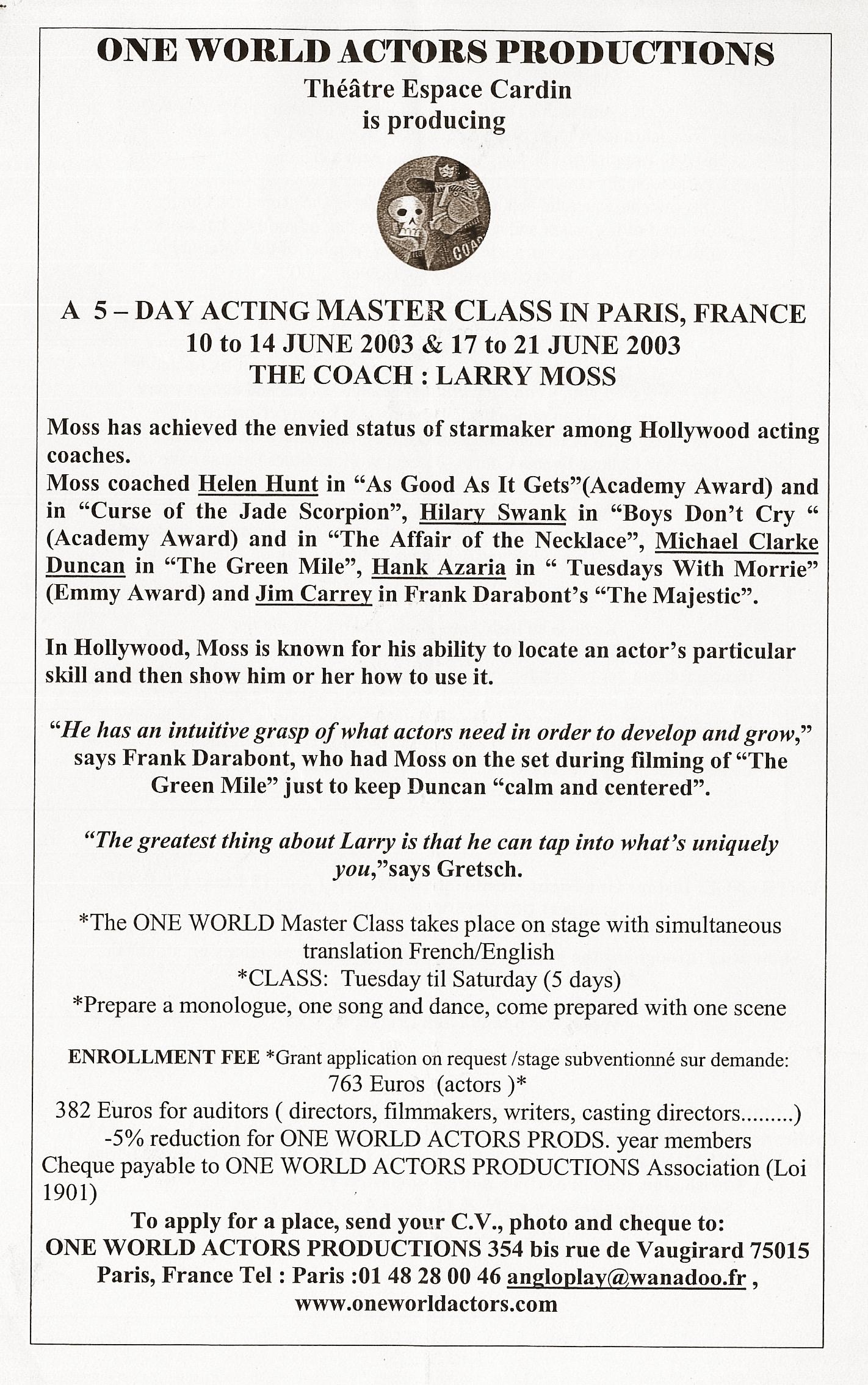OWAP Master Class Larry Moss Kim Michelle Broderick Producer .jpg