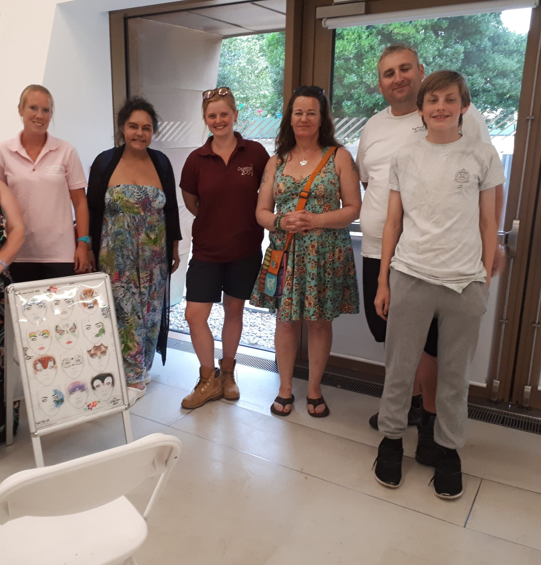 OWAP AR CHARITY EVENT FUNDRAISER 20 JULY 2018 WITH VIGGO SIMON KATIE PERFECT OF COLCHESTER ZOO AND FACE PAINTER ARTIST  WITH KIM.jpg
