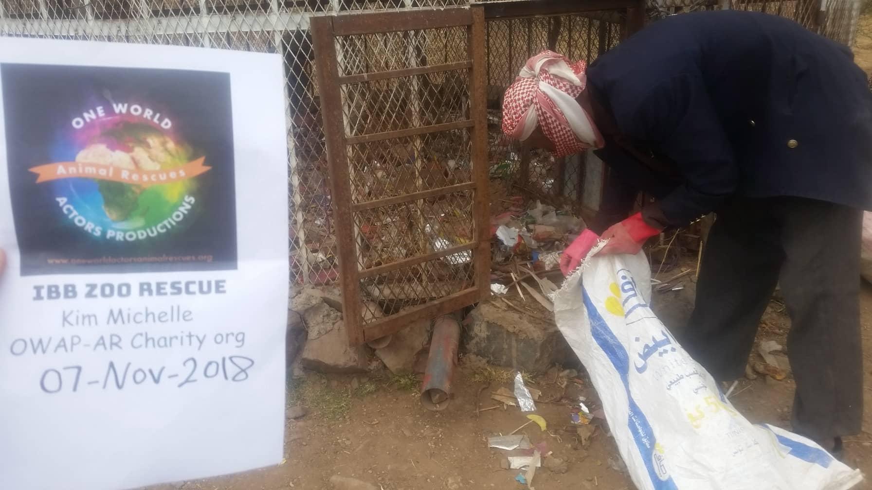 ibb zoo cage cleaning abdulrazak NOV 7th 2018 by OWAP AR.jpg