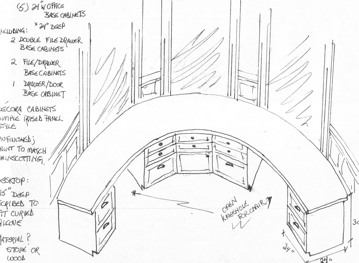 Allister Office desk wall drawings