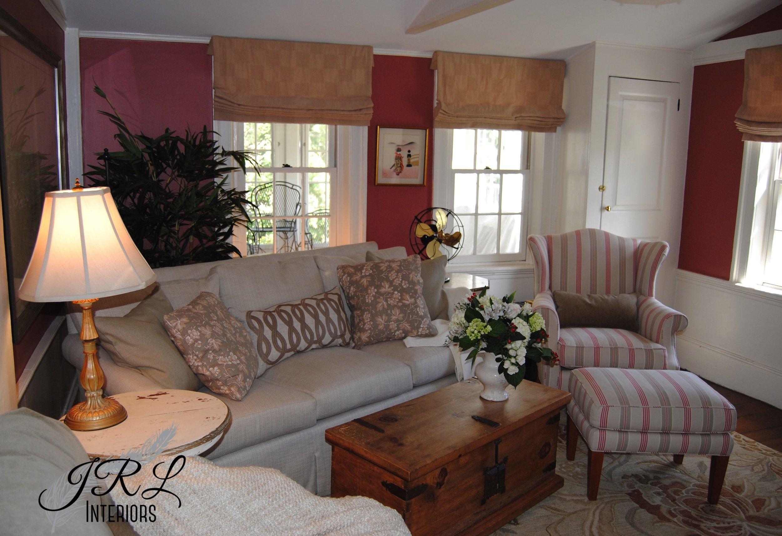 Belmont family room interior design