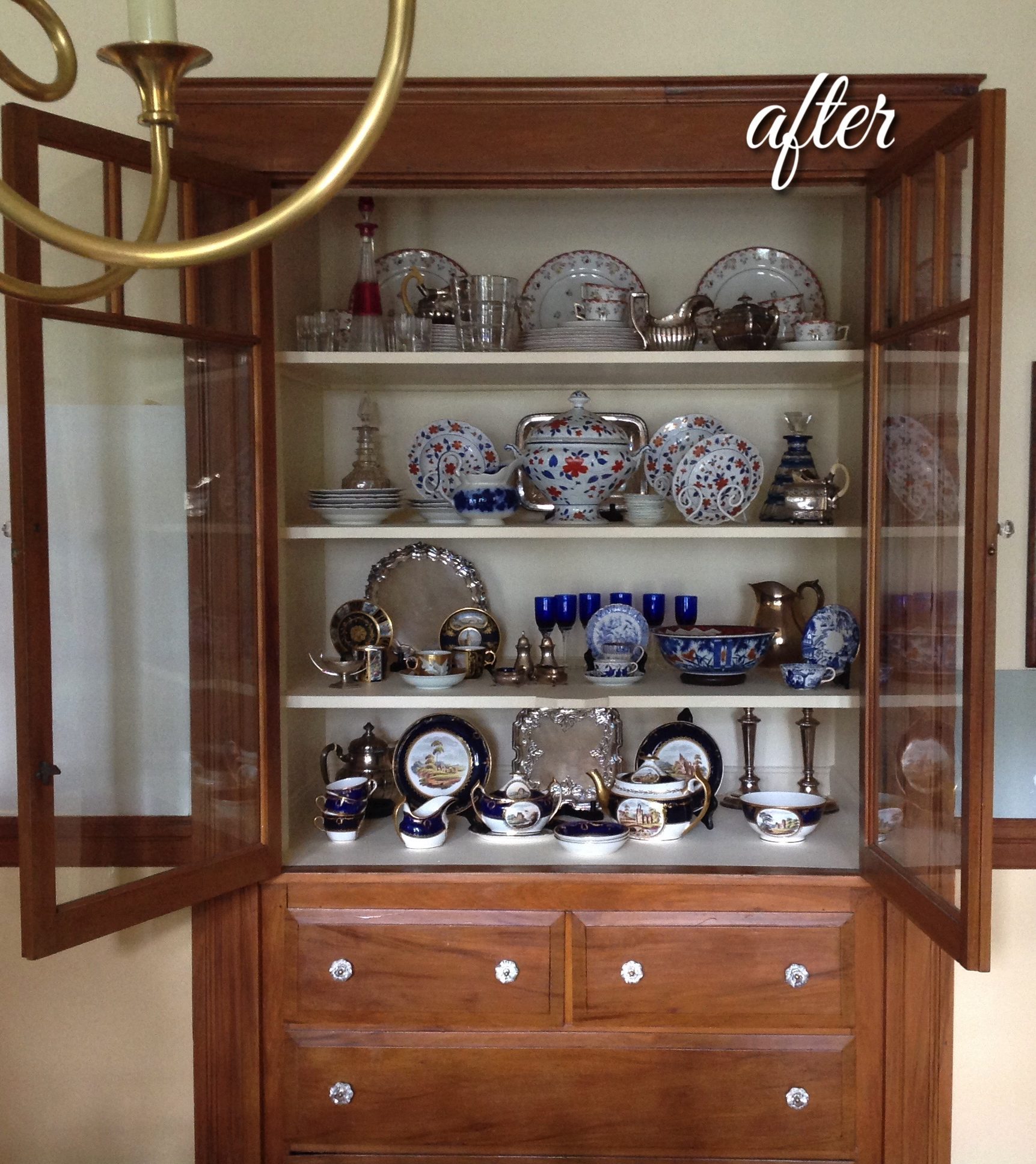 china cabinet display styling