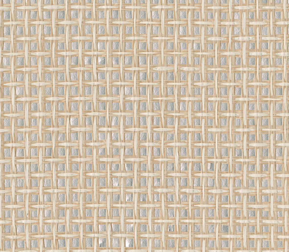 raffia and metallic wallpaper