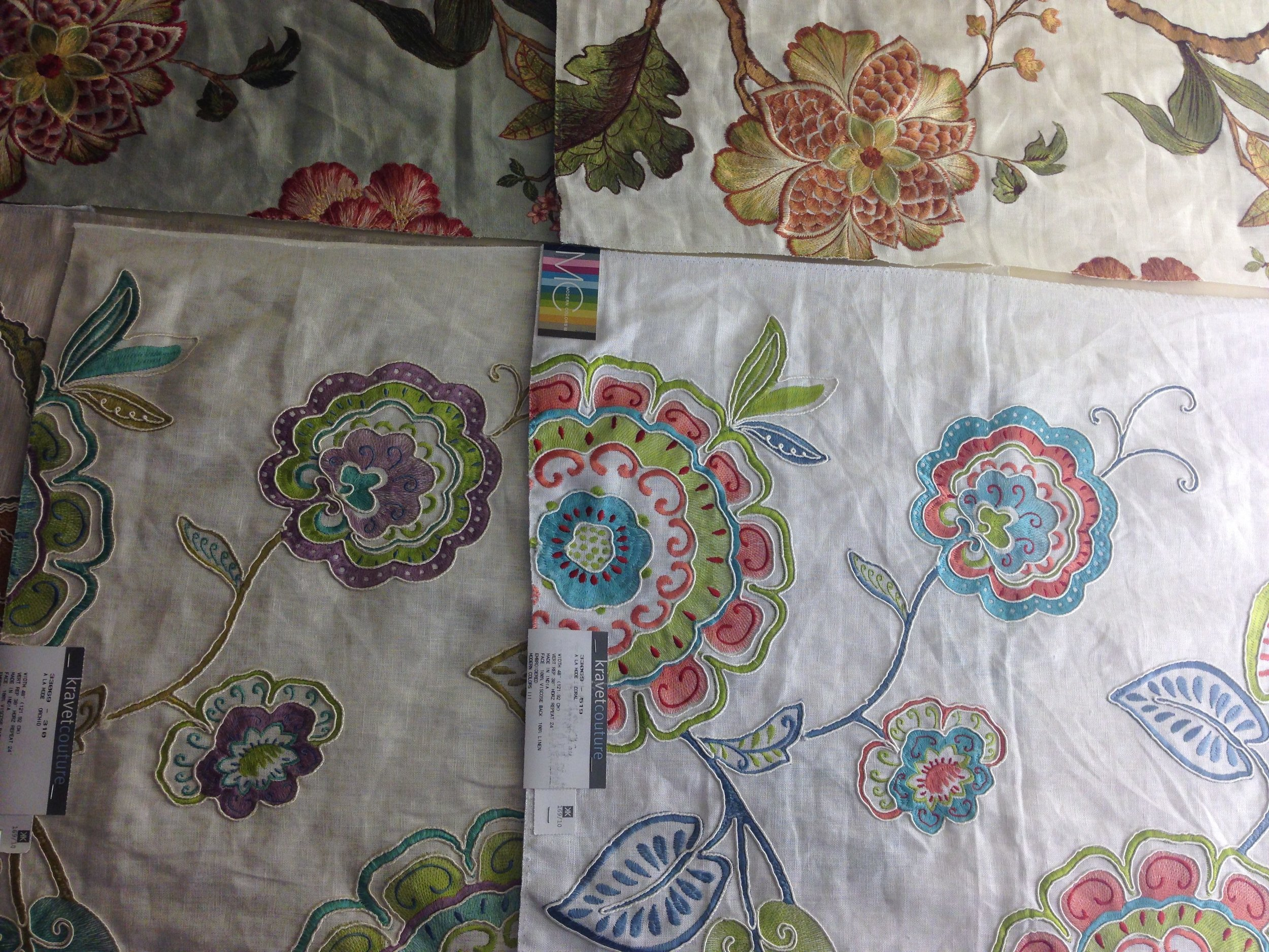 more colorful embroidered linen fabric