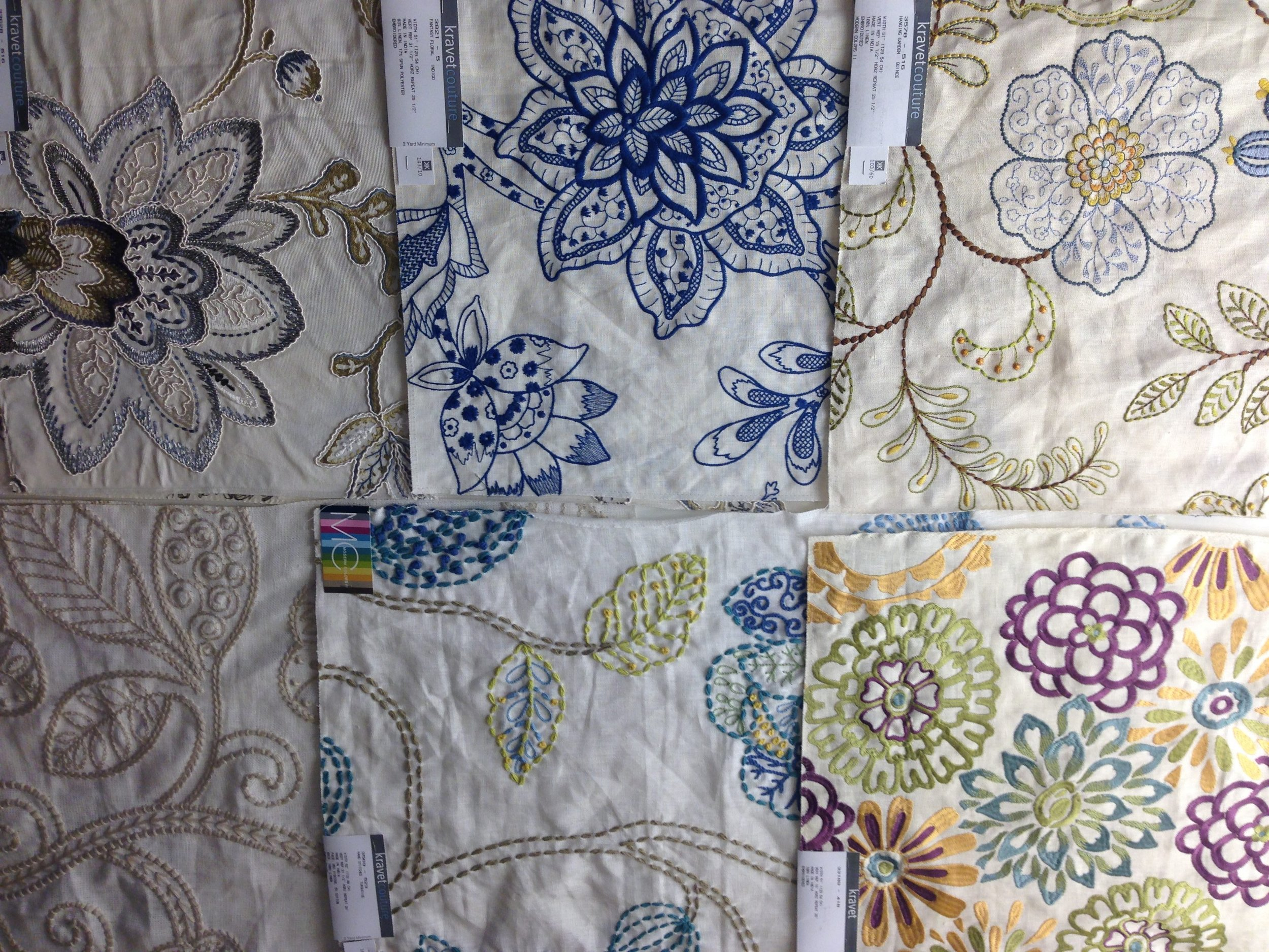 colorful embroidered linen