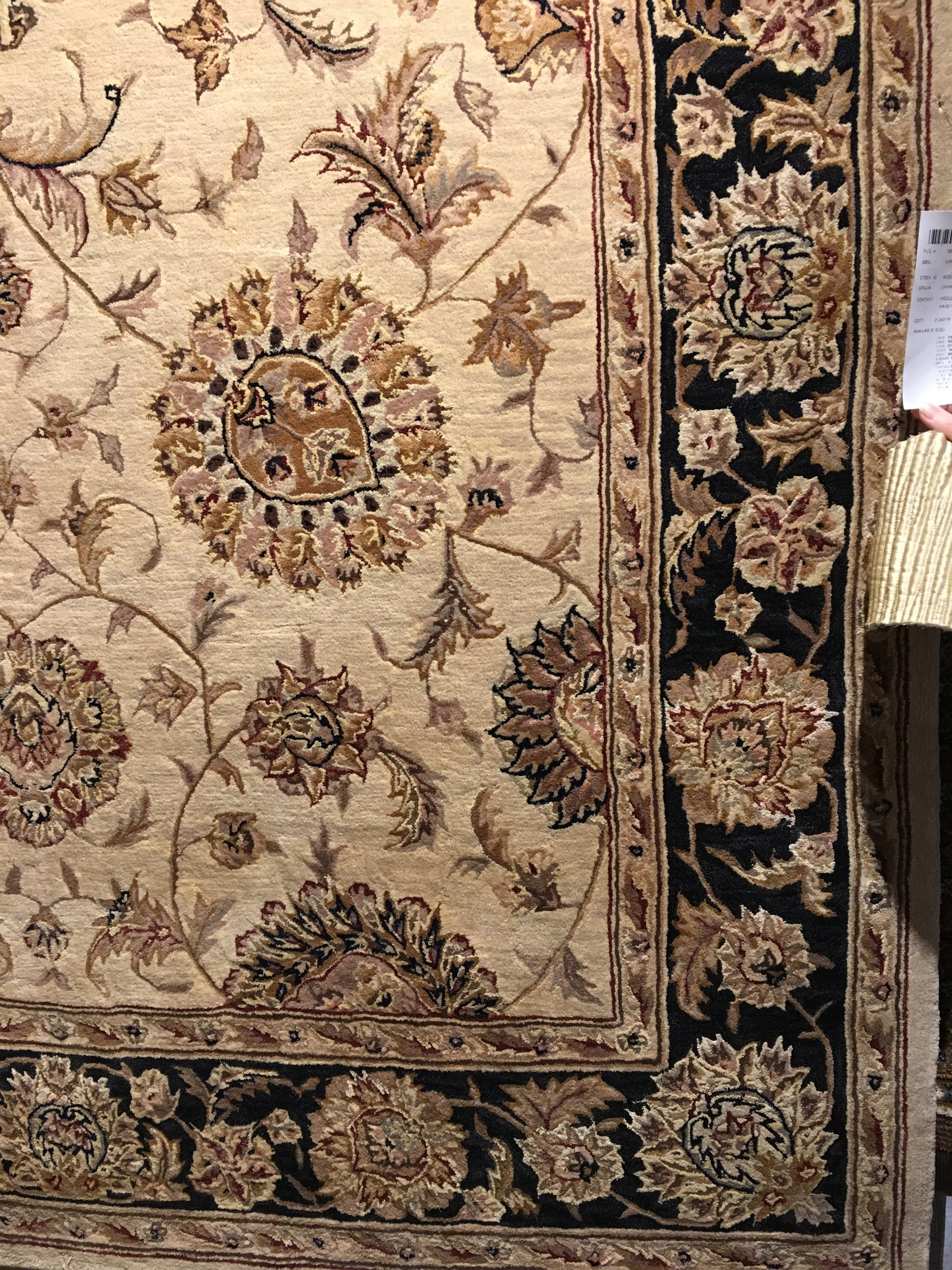 black bordered oriental rug