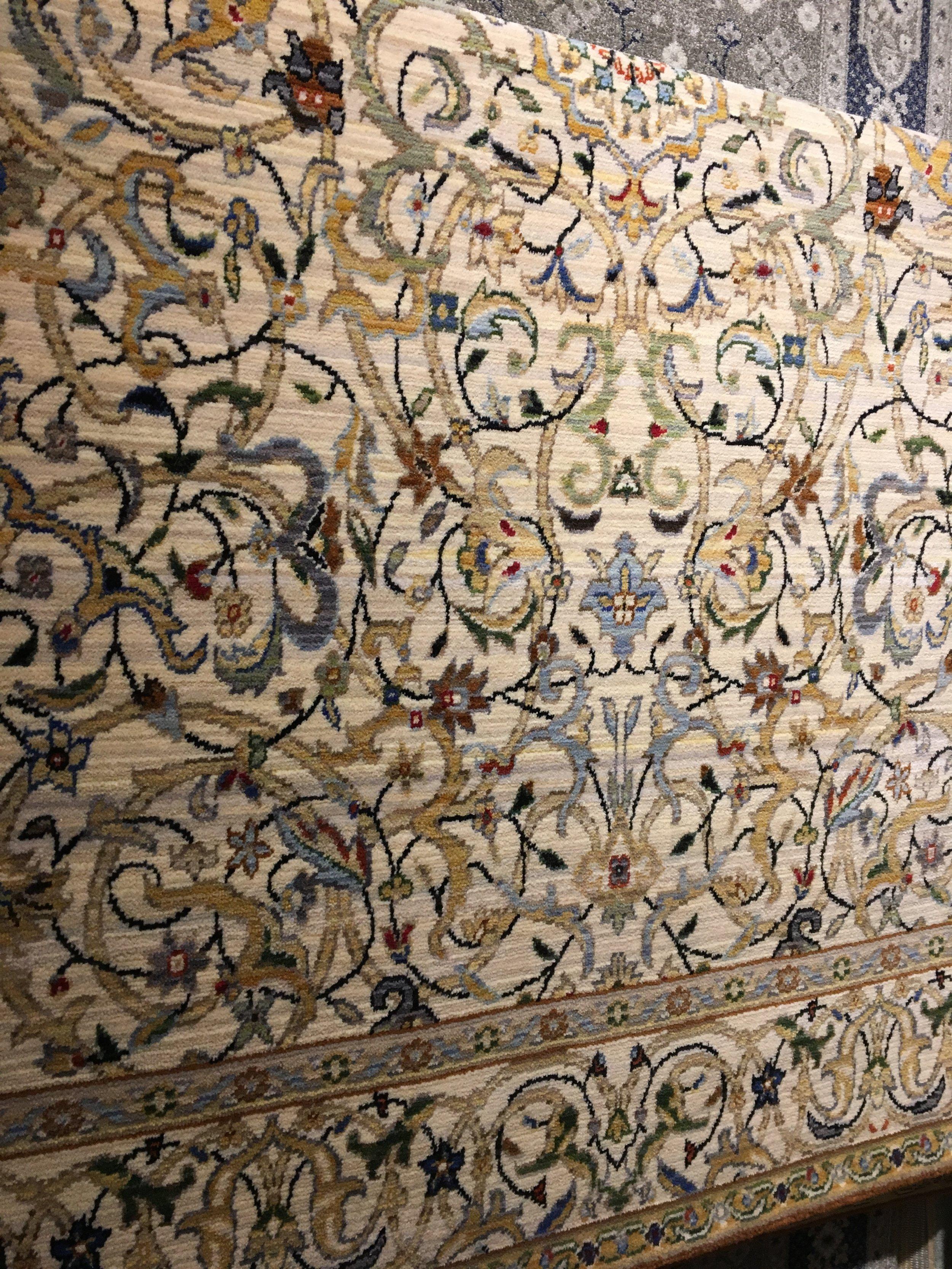 Art Nouveau multicolor rug