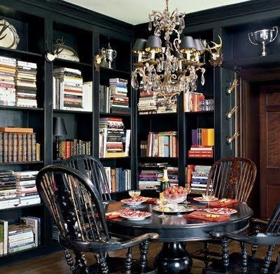 Home of Mark Badgley and James Mischka  via  Elle Decor. Photography by Roger Davies