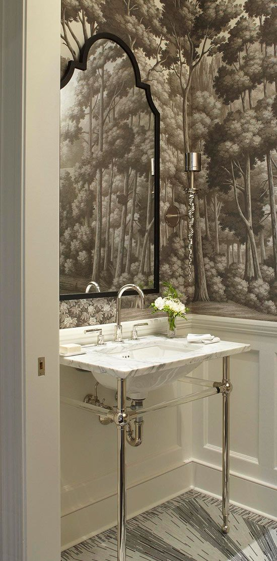 Jrl Interiors How To Create Powder Rooms That Wow Your Guests