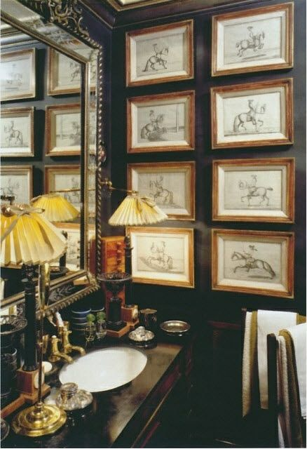 from the book  Magnificent Baths  by Massimo Listri, a bathroom in the London home of Anouska Hempel