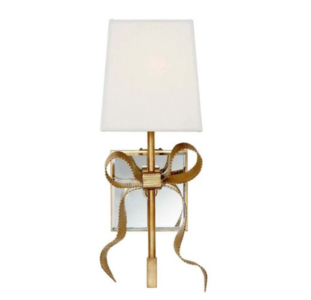 kate space bow sconce