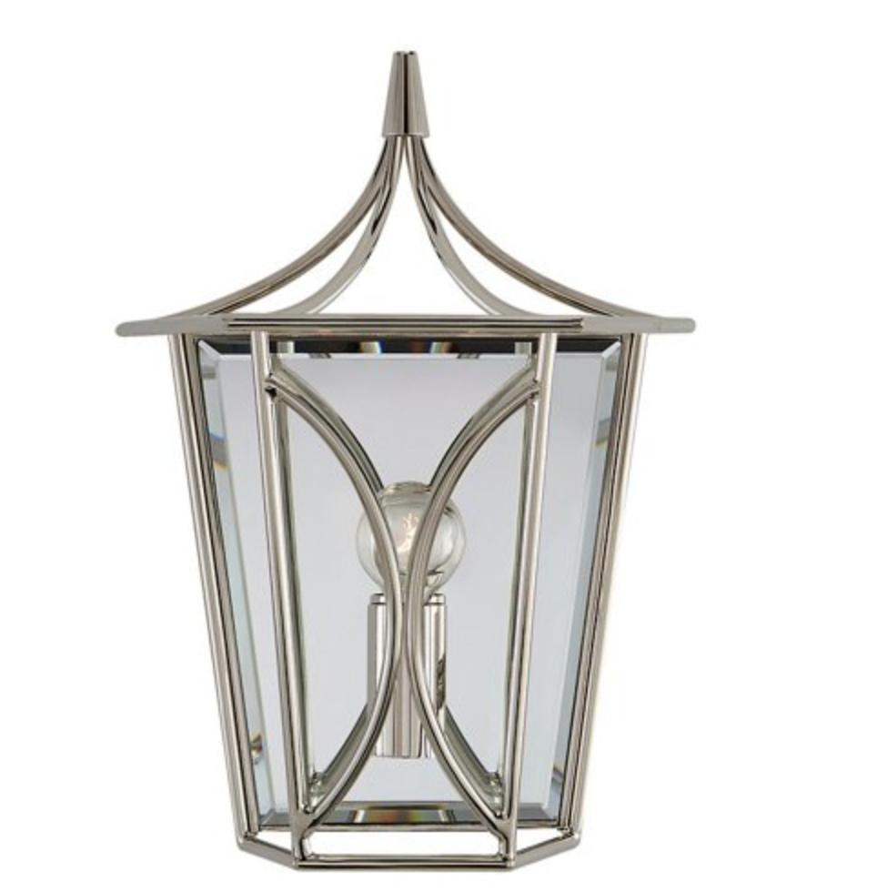 polished nickel lantern