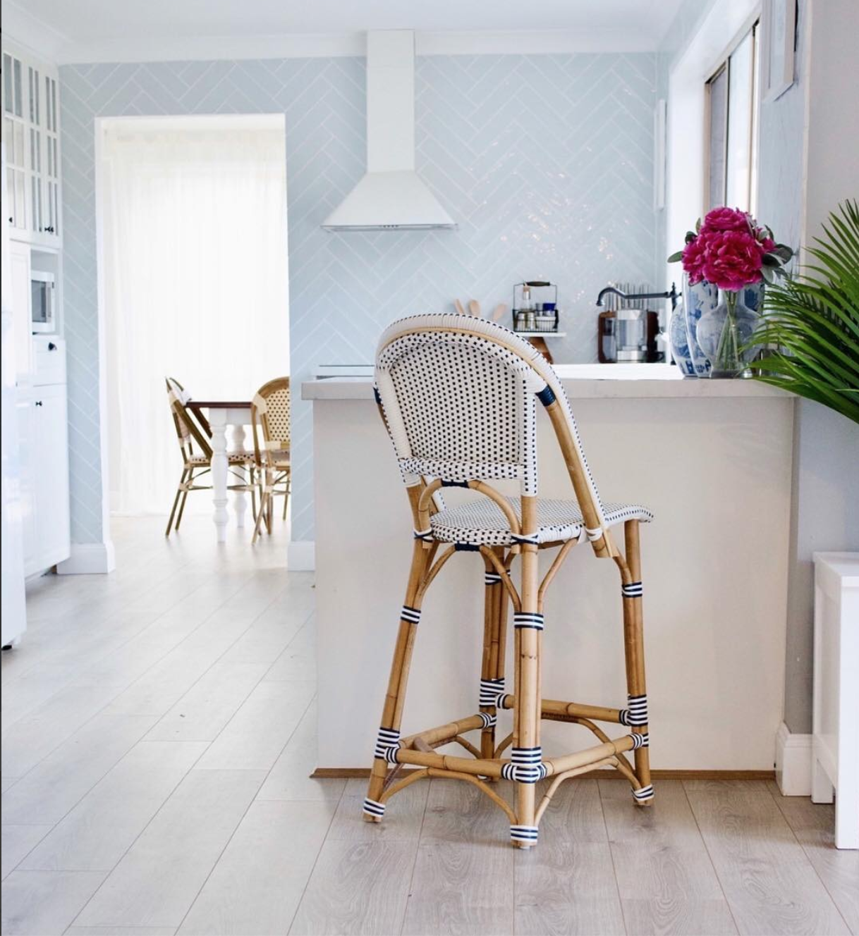 Bistro barstool in the kitchen of Susanna from   Coastal Hampton Style