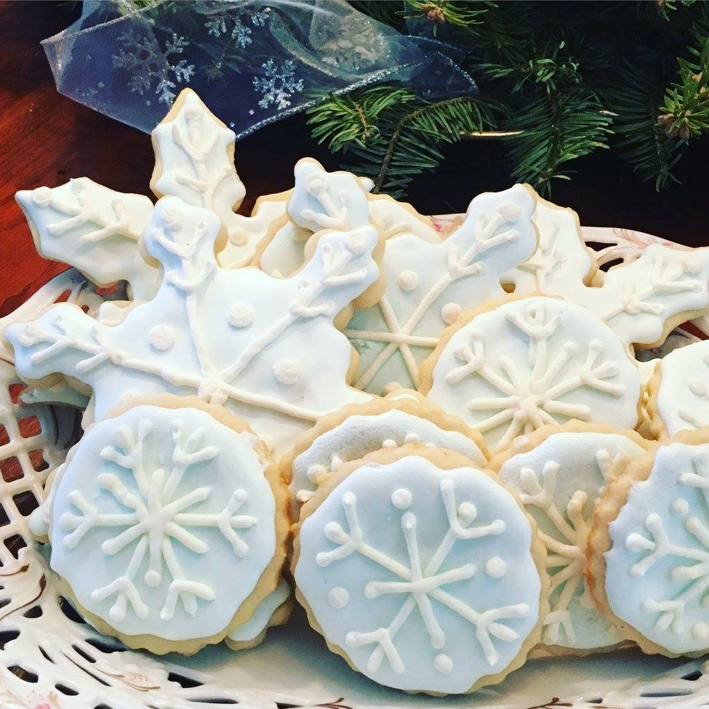 My first batch of snowflake cookies!