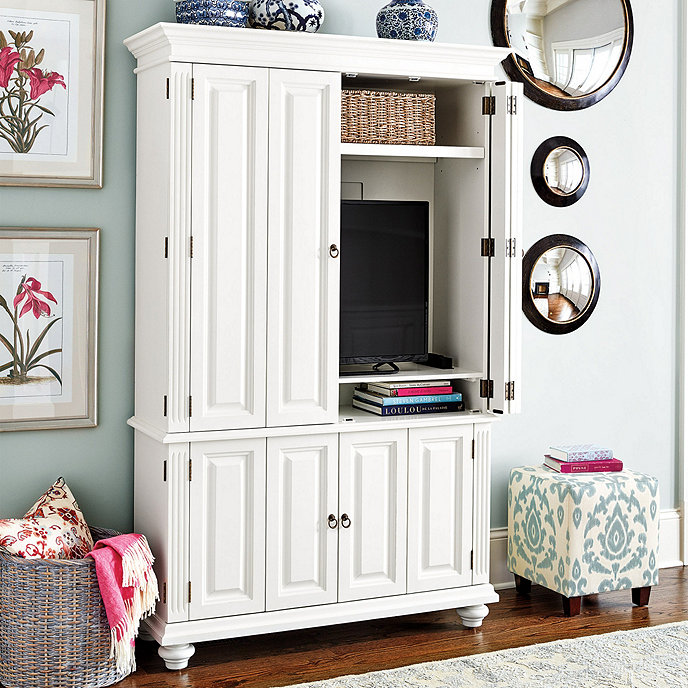 """This well priced slim media armoire can accommodate up to a 51"""" TV and comes in 4 different finishes for a range of looks that suit a variety of styles; click   HERE   to see options."""