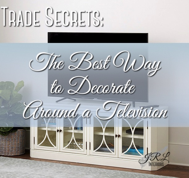 The Best way to decorate around a TV
