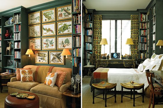 Images via   1st Dibs   Introspective Magazine from Stephanie Stokes book Elegant Rooms that Work (Rizzoli). Photos by Michel Arnaud