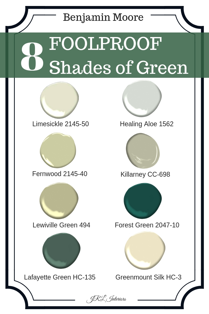8 foolproof shades of green