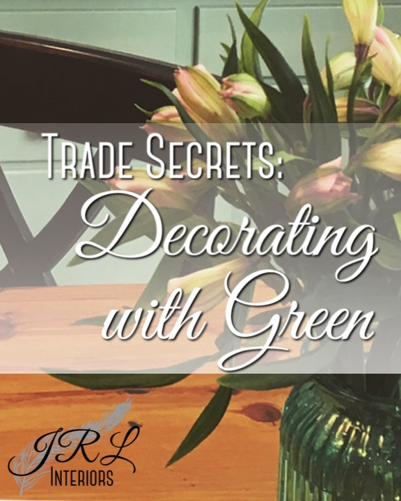 Decorating with Green.  Three ways to incorporate green into your interior decor