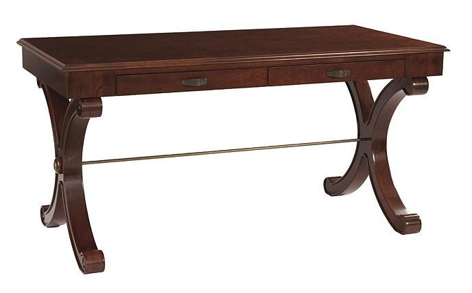 Wood X leg writing table